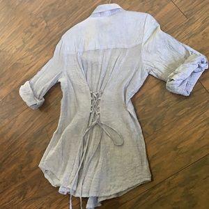 Button Down Cuffed Shirt